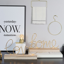 Любовь домашний дизайн светодиодный светильник для письма ночник с деревянным пьедесталом для дома и вечерние украшения железное искусство подарок на день Святого Валентина