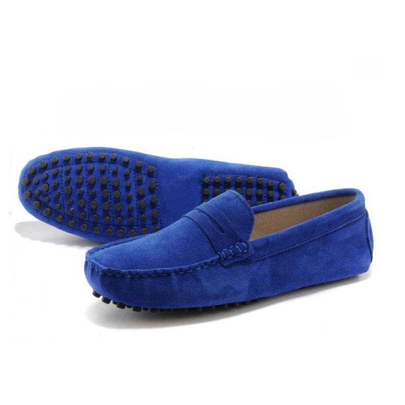 Nuevos hombres Del Cuero Genuino zapatos planos zapatos de Moda Suaves Mocasines
