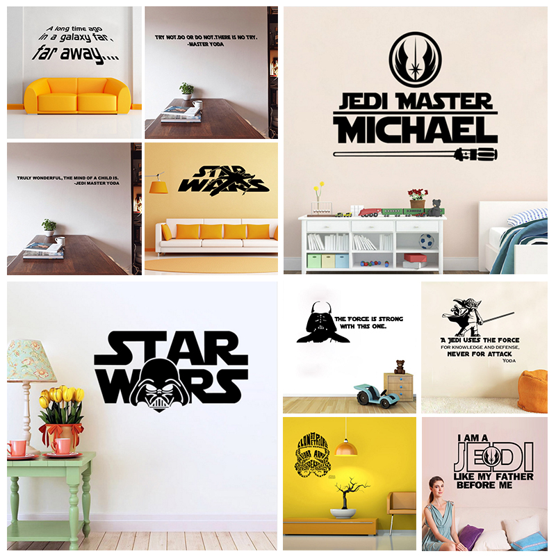 Diy Wall Art Name : Star wars master personalized name wall art sticker decal