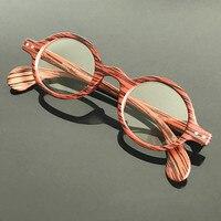 Vintage Retro Round Amber Tortoise Eyeglass Frame Spectacles Eyewear RX 3020