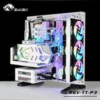 BYKSKI акрил водного доска Решение Совместимость Tt Core P3 чехол для ноутбука для Процессор и GPU Блок/3PIN RGB 5 в/Combo DDC насос