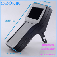 4 pcs/lot black piece box electronic case abs plastic handheld shell electric box plastic 118X220X101MM