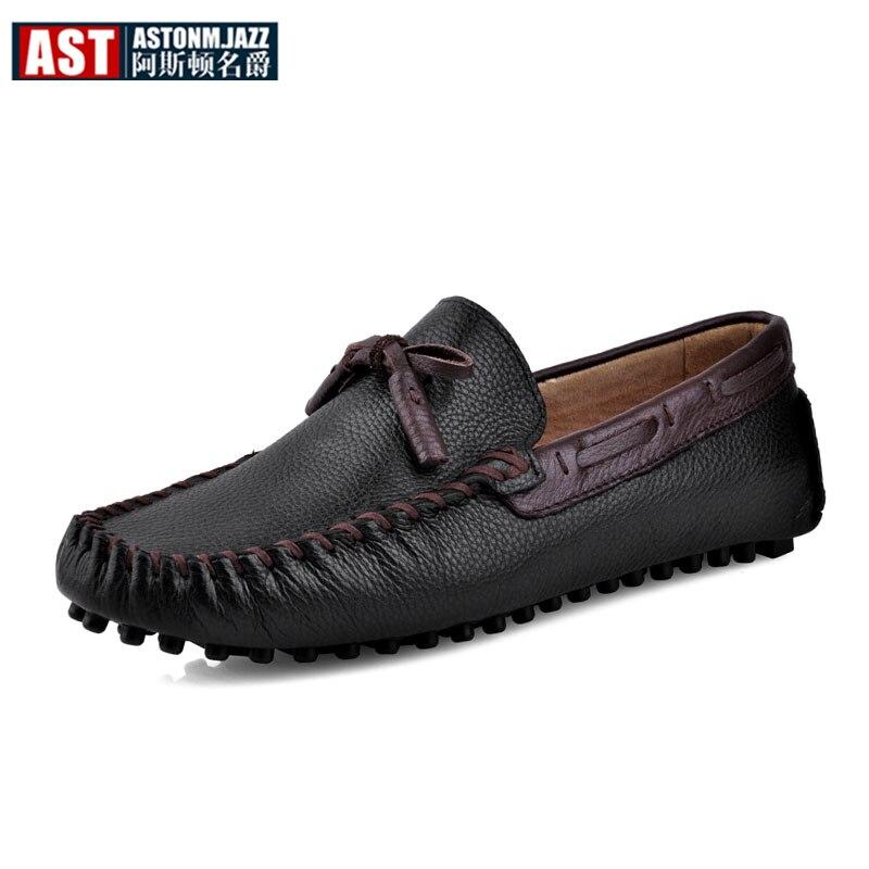 6 colores marca de cuero genuino hombres transpirable Slip On Tassel mocasines Casual zapatos de conducción hombre de negocios verano mocasines-in Zapatos náuticos from zapatos    1