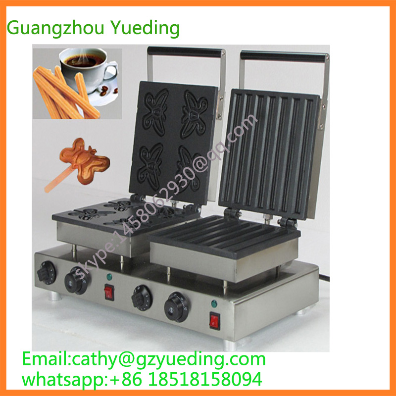 CE high quality butterfly waffle maker /churros waffle maker for sale for small business 2l manual churros making machine for sale best quality churros maker