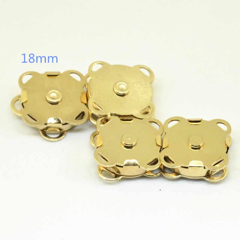 100 Buah 14Mm/18Mm 0.55/0.7 ''Di Emas/Perak/Perunggu Antik Menjahit DIY magnetic Terkunci Dompet Gesper Penutupan Logam Tombol Aksesori