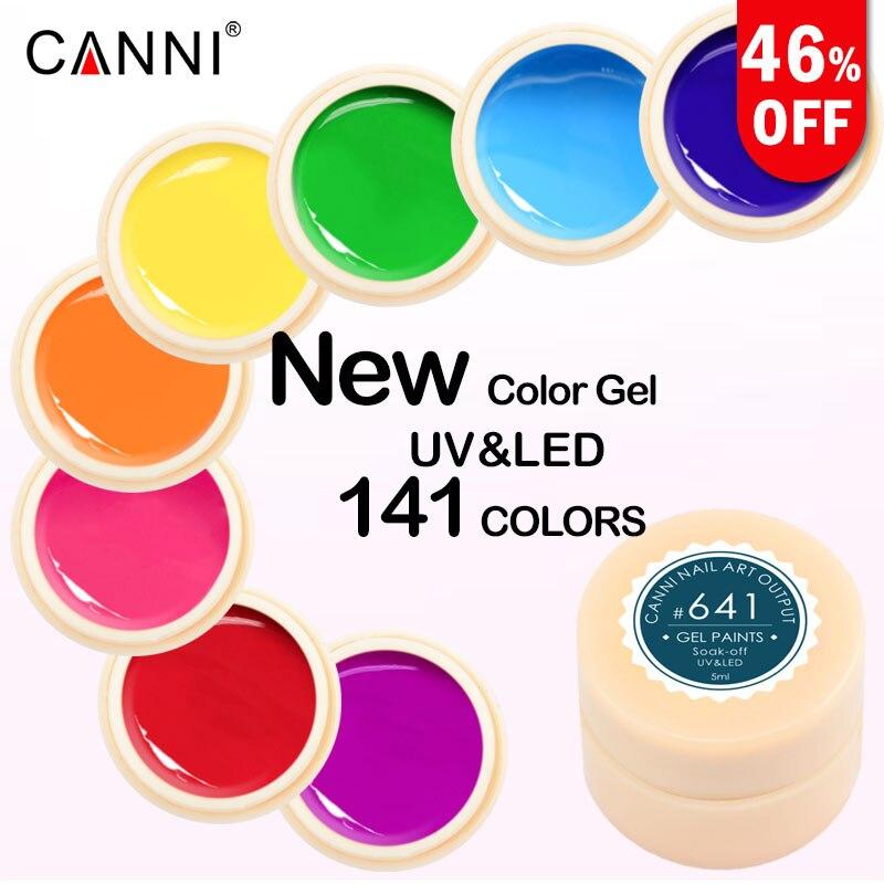 5 мл canni гель-краска Цвет гель Дизайн ногтей Дизайн Маникюр Venalisa141 Цвет Soak Off Gel Nail Polish светодиодный Дизайн ногтей чистый цвет УФ-гель