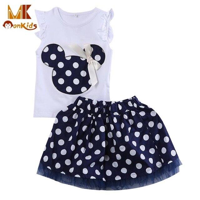 Monkids Original Design Girls Lace Skirts Princess Skirts Baby Girl Skirts Princess Style Mini Tutus+Top Clothes Short Sleeve