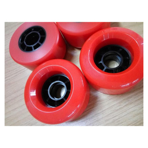Image 5 - 4pcs Electrical Skateboard Wheel  83mm 90mm 97mm Longboard wheel SHR78A PU Wheels Big Soft Wheels Resistant PU Skateboard Wheels