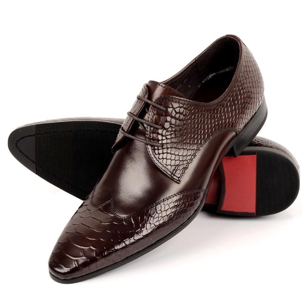Men Shoes Genuine Leather Lace-up for Office Career Shoes Men Business Shoes  2016 New Designer Men Leather Dress Shoes 8529-113 1a04b3b01de8