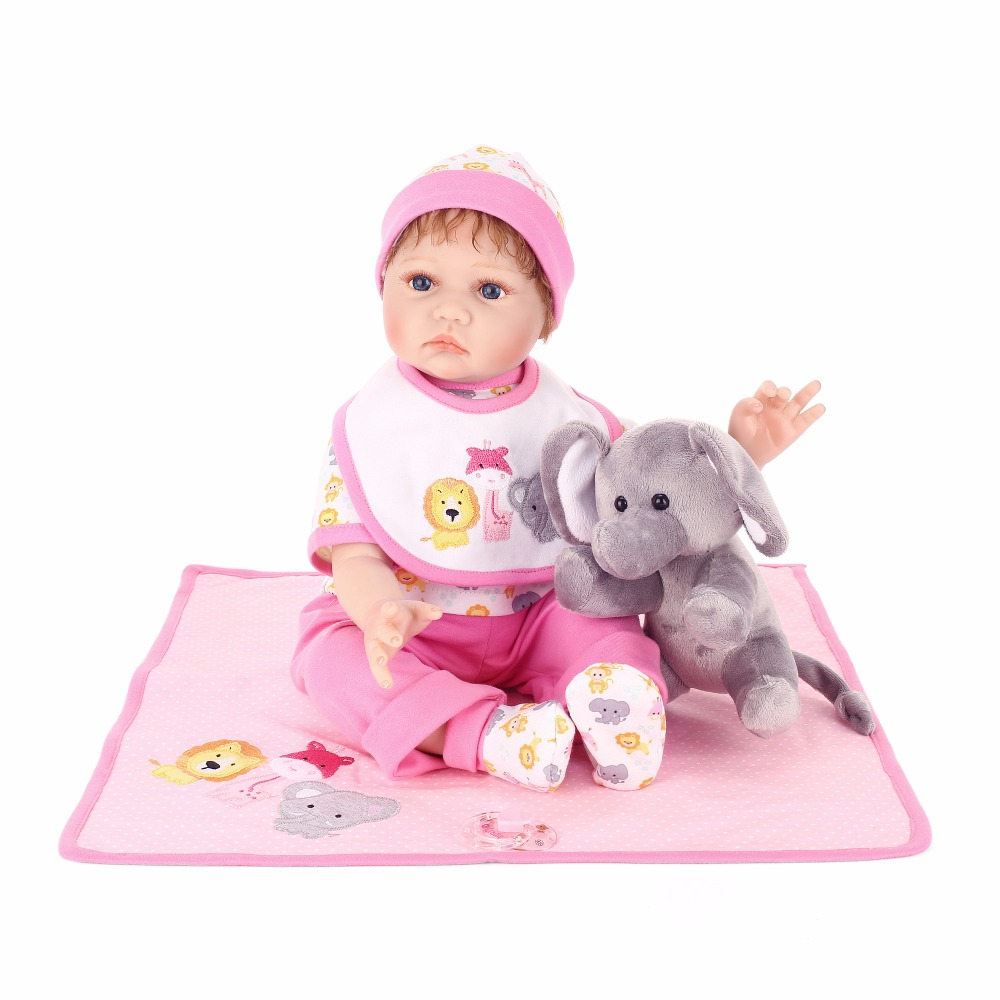 22inch  Silicone Doll Reborn Baby baby reborn Toy For Girls lifelike pink alive bonecas play house Baby Birthday Gift For Child22inch  Silicone Doll Reborn Baby baby reborn Toy For Girls lifelike pink alive bonecas play house Baby Birthday Gift For Child