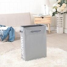Shushi cesto de ropa portátil y delgado Oxford, cesto plegable para la ropa sucia, resistente al agua, organizador de baño