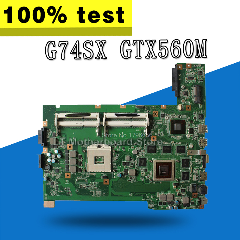 G74SX Motherboard GTX560M 3 gb For ASUS G74SX Laptop motherboard G74SX Mainboard G74SX Motherboard test 100% OK все цены