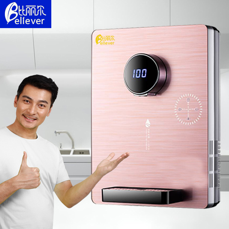 Quick heat Pipeline Water Dispenser Icy Hot Wall hanging Temperature Regulating Glass Touch Screen Drinking Water Machine