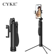 CYKE A21 ワイヤレス bluetooth selfie スティック bluetooth リモートコントロール補助光ポータブル三脚調節可能なハンドヘルド安定性