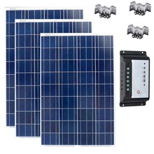 Solar Panel 12v 100w Polycrystalline Charge Controller 12v/24v 20A Caravan Car Camp Phone Light Marine Boat Yacht