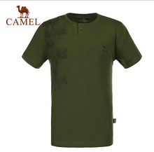 2016 Camel Outdoor Men T-shirt Cotton Breathable Comfortable Quick-drying Polo T-shirts 5T1A26128
