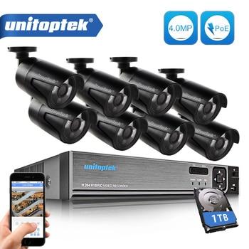 8ch комплект видеонаблюдения 4mp безопасности Камера Системы 8ch NVR H.265 max 4 К Выход видео Выход 8 шт. 4mp IP Камера обнаружения движения