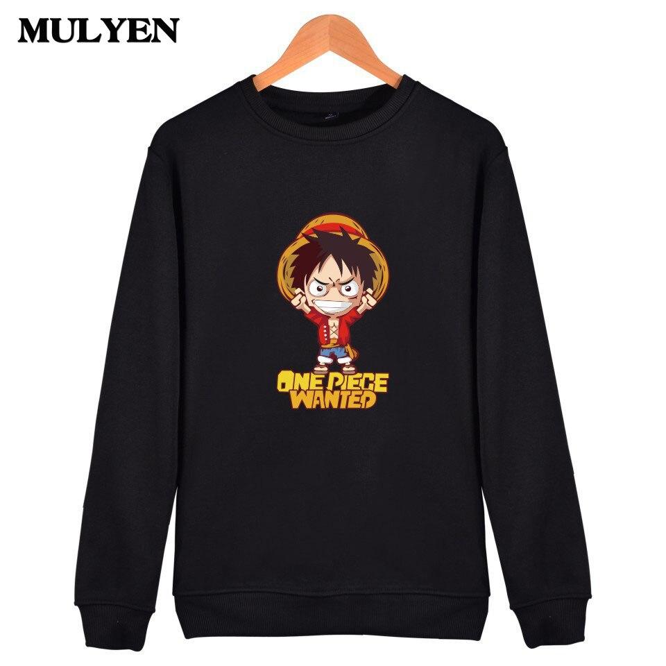 2017 Summer Latest Men's Anime Hoodies One Piece Luffy Mugiwara Capless Sweatshirt Moleton Masculino Camouflage Tracksuit