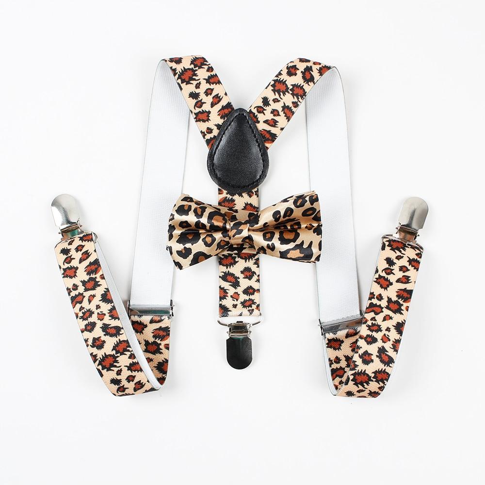 Mantieqingway Adjustable Baby Suspenders Bowtie Set Boys Girls Kid 3 Clip-on Y Back Elastic Suspenders Children Braces Suspender