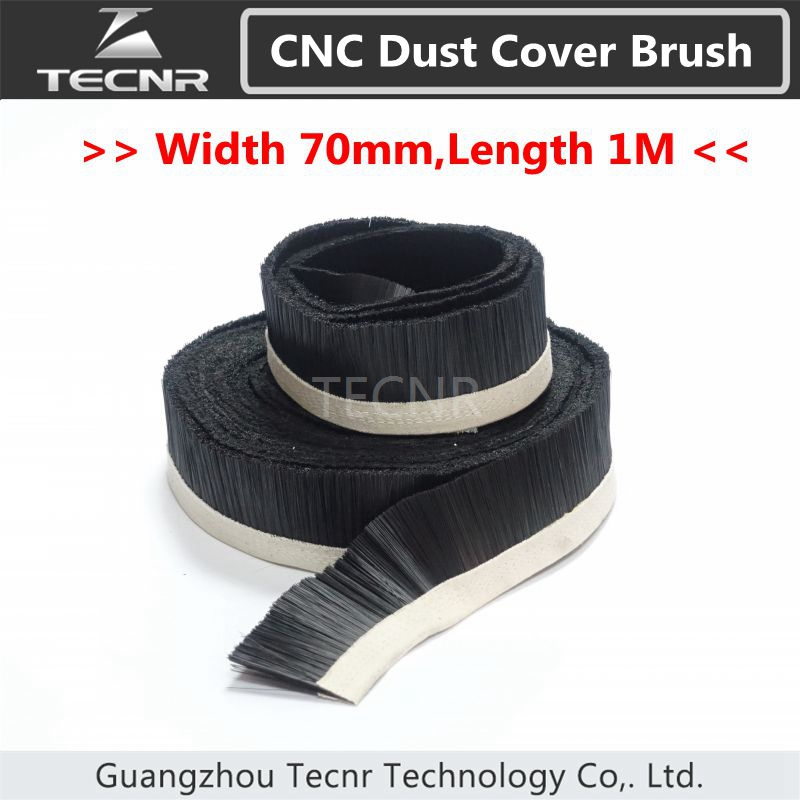 TECNR 1M X 70mm Brush Vacuum Cleaner Engraving Machine Dust Collector Cover For CNC Router