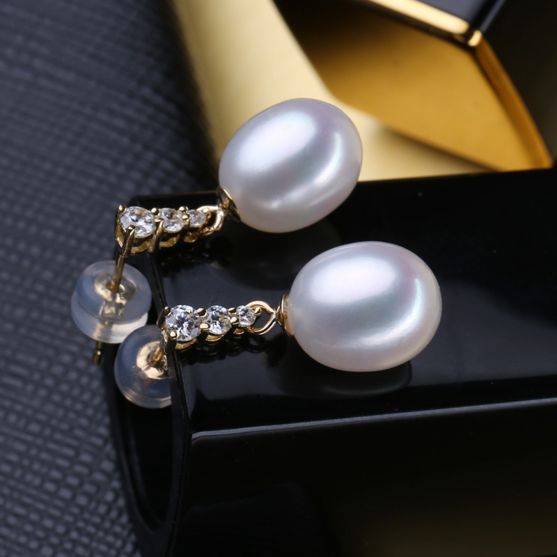 FENASY 18 k or boucles d'oreilles perle bijoux 18 K or pendentif perle bijoux colliers pendentif pour les amoureux envoyer S925 collier en argent - 6