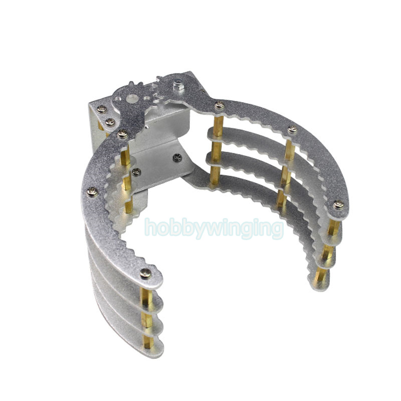 Symmetric Grasping Large Clamp Mechanical Robot Claw Manipulator Gripper Metal Aluminum Hand Grips Paw w/ LDX-335MG Servo