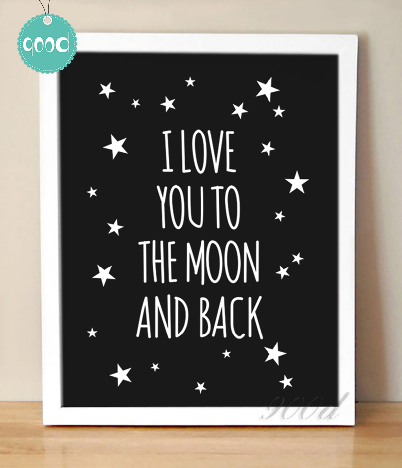 I Love You More Than Quotes: Aliexpress.com : Buy Love Quote Canvas Painting Art Print