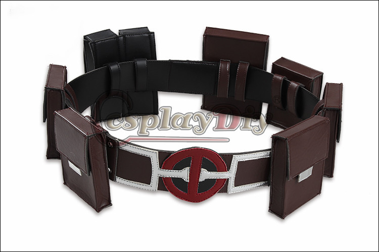Cosplaydiy Deadpool Cosplay Costume adulte x-men Deadpool ceinture ceinture ceintures Cosplay accessoires sur mesure