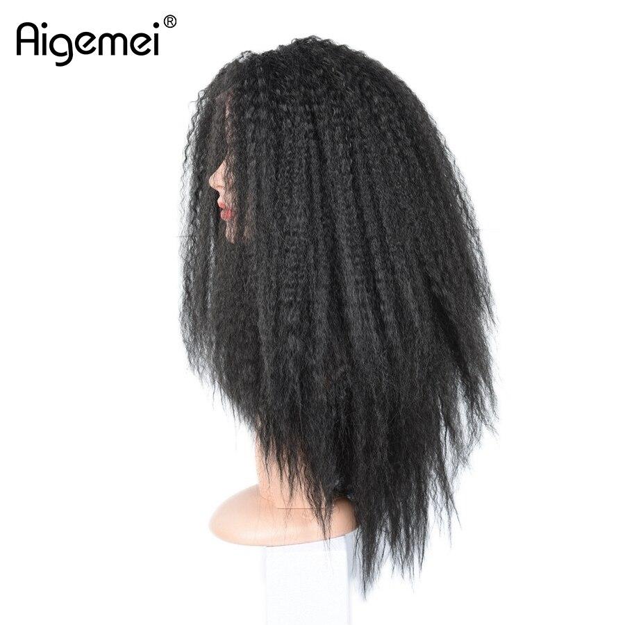 Aigemei жаростойкий кружевной парик 18inch - Синтетические волосы - Фотография 3