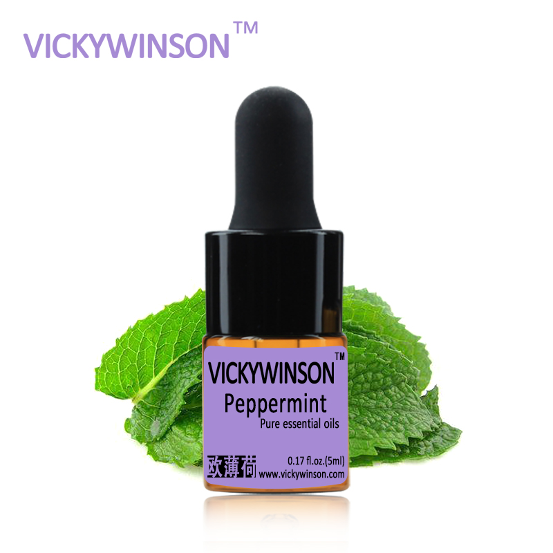 VICKYWINSON Peppermint essential oil 5ml 100% Pure Essential Oil Deep Clean Pores Black Head WD32
