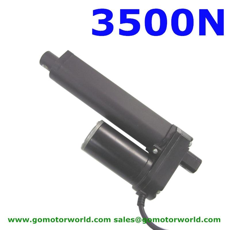 Waterproof 12V 24V 500mm adjustable stroke 3500N 770LBS load 5mm/s speed cheap linear actuator LA1035