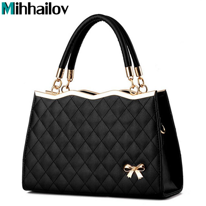 2018 Brand Luxury Women Leather Handbags Women's Trunk bolsos Messenger Bags Shoulder Bag Sac A Main Femme De Marque B40-718
