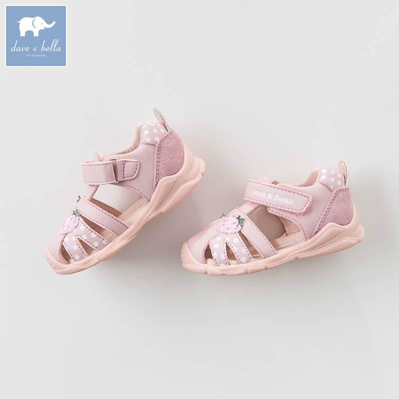 DB7281 Dave Bella spring summer baby girl sandal Princess Shoes brand shoes db6743 dave bella spring summer baby girl canvas shoes floral casual shoes