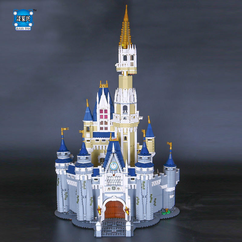 New LEPINE Cinderella Princess Castle City Model Building Block Kid Educational Toys For Compatible Christmas Children Gift lepin 16008 creator cinderella princess castle city 4080pcs model building block kid toy gift compatible 71040