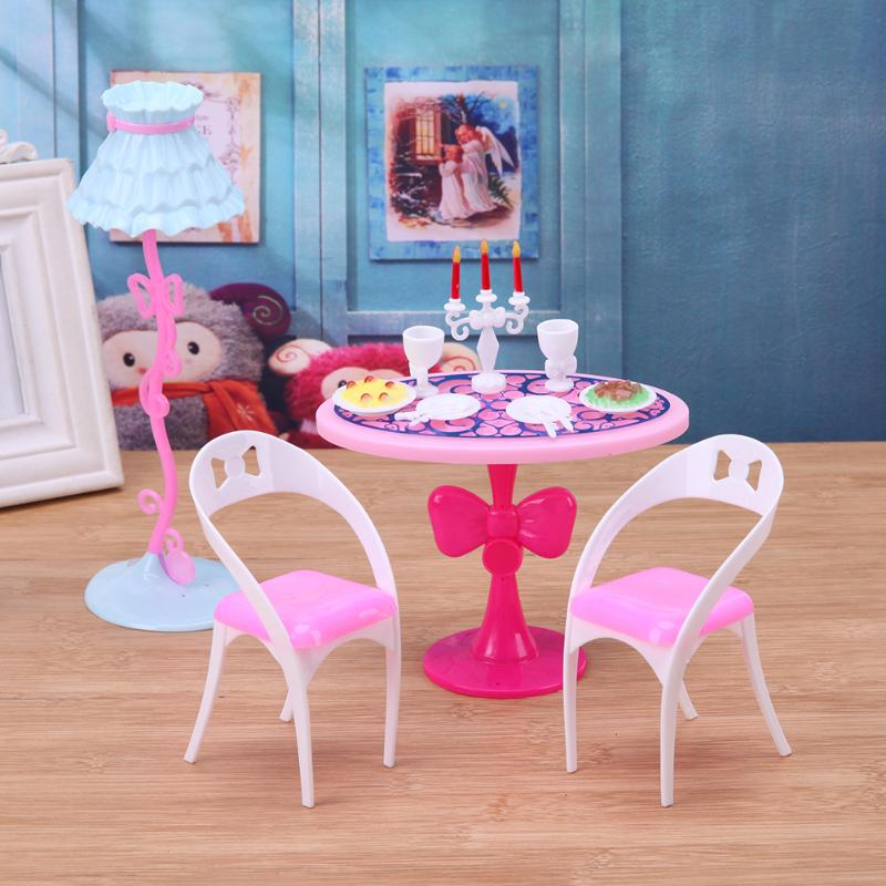 21pcs/Set Furniture Doll Candlelight Dinner Tools For Barbies 29cm Doll Mini Kitchen Tableware Role Play Toy Christmas Gift