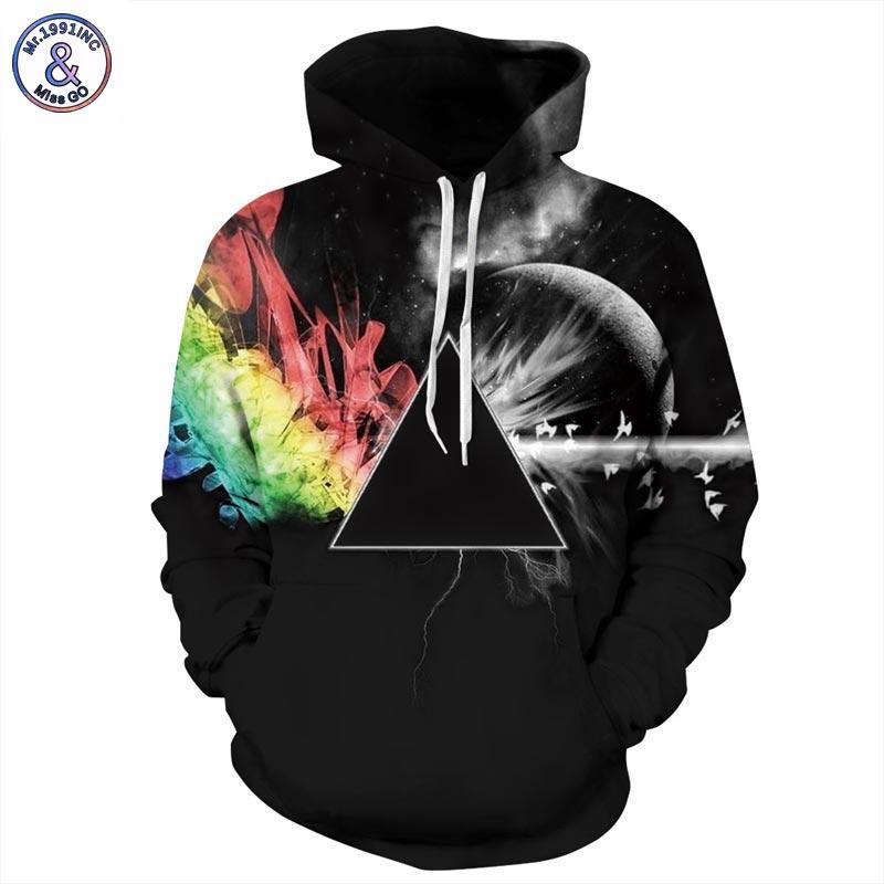 Mr.1991INC Marke Sweatshirts Männer/frauen 3d Sweatshirts Drucken Sonnenlicht Brechung Regenbogen Mit Kapuze Hoodies Pullover Tops Hoody
