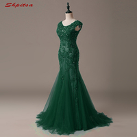 Sexy Long Lace Mermaid Evening Dresses Party Women Beaded Ladies Prom Formal Evening Gowns Dresses for Wedding