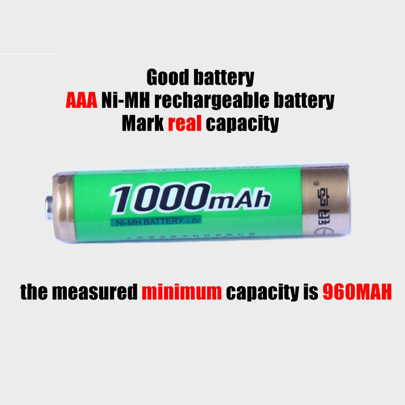1pc/2pc /4pcs/8pcs/10pcs AAA Ni-Mh Battery 1.2V 1000mAh AAA NiMh Rechargeable Battery with High quality ...