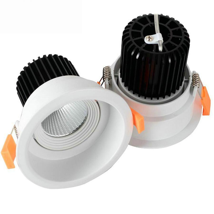 Затемнения встраиваемые светодиодные светильники удара 6 Вт 9 Вт 12 Вт 15 Вт 20 Вт светодиодный прожектор светодиодный потолочный лампа AC110V 220 В...
