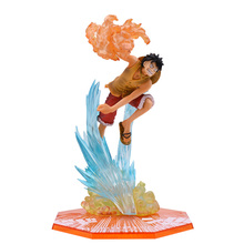 Anime One Piece Monkey D Luffy Fire Battle Ver PVC Action Figure Doll Collectible Model Baby Toy Christmas Gift For Children цена в Москве и Питере