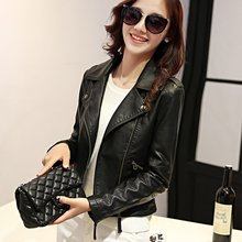 2017 New Spring Autumn Faux Leather Jackets Women Short Slim PU Jacket Female Casual Motorcycle Leather Coat Good Quality