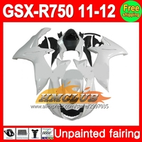 Body Unpainted Full Fairing Kit For SUZUKI GSX R750 11 12 GSXR750 GSXR 750 GSX R750 11 12 2011 2012 2011 2012 Fairing