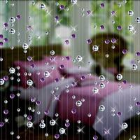 Verre de Cristal de mode perle Rideau Intérieur Décoration de La Maison De Luxe De Mariage toile de fond Décoration