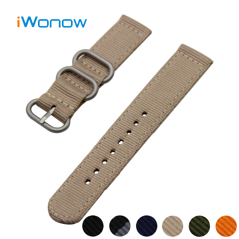 Nylon Watch Band 18mm 20mm 22mm 24mm for Hamilton Stainless Steel Pin Buckle Strap Wrist Belt Bracelet Black Blue Green Orange 24mm nylon watchband for suunto traverse watch band zulu strap fabric wrist belt bracelet black blue brown tool spring bars