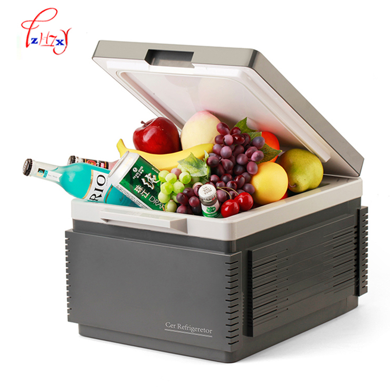 Refrigerators Generous Household/outdoor Mini Multi-function Car Refrigerator With A Gray Battery Function 12 Liters Portable Freezer For Car Bluetooth Home Appliances