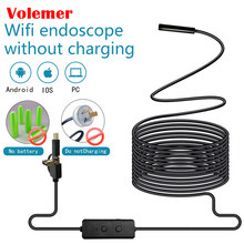 Volemer WIFI Endoscope Camera Micro USB Type-c USB Inspection Camera 720P HD IP67 8MM Waterproof Tube Snake Borescope Camera(China)