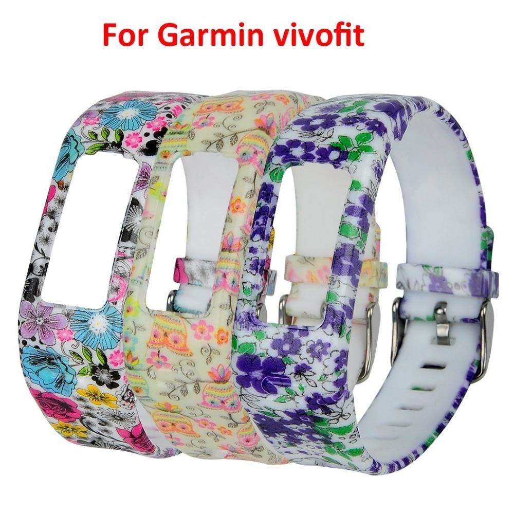 (JM1GJHS) 3 pcs/lot Replacement Rubber Band with Clasps for Garmin Vivofit Brace