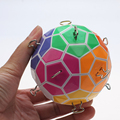 2016 más nuevos Tops rompecabezas bola mágica colorida fortalecimiento versión cubo mágico Puzzle de aprendizaje y juguetes educativos juguete de regalo navidad