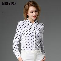 2019 Spring Fashion 100% Silk Blouse Office Lady Shirts Women's Shirt Long Sleeve Pure silk Women Tops Blouses Plus Size blusa