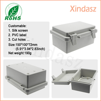 Free Shipping 150 100 72mm Hinged Waterproof Plastic Waterproof Box Plastic Boxes For Electronics With Lock